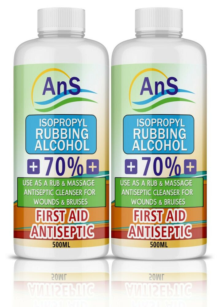 Isopropyl Rubbing Alcohol First Aid Antiseptic 500 ml ...