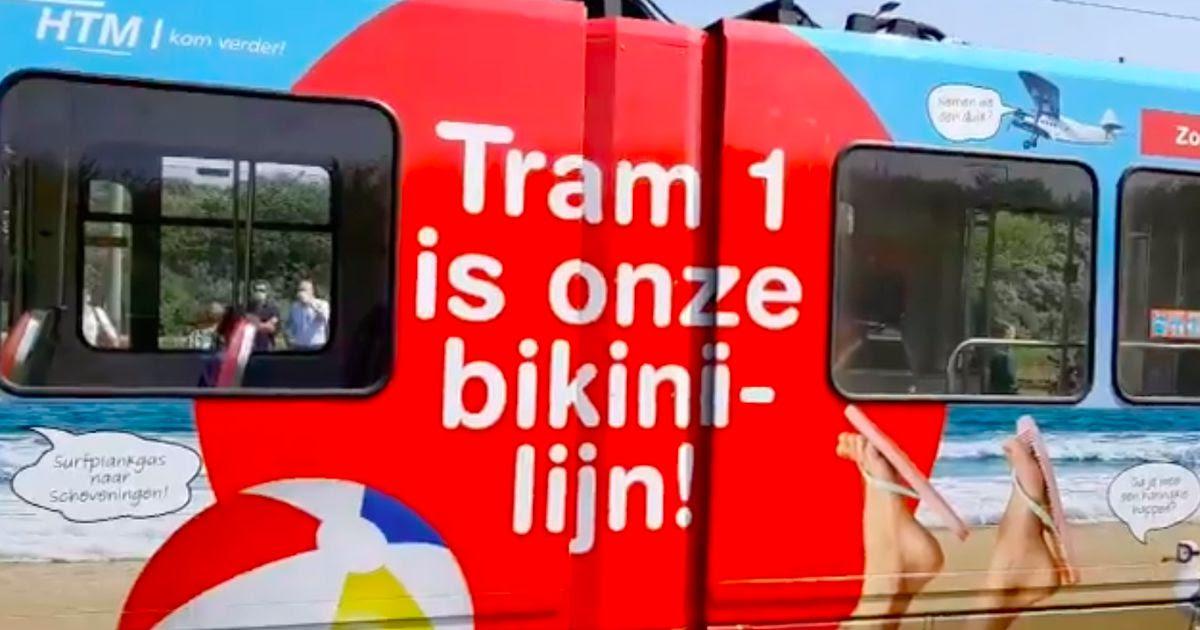 Tram richting Scheveningen heet 'Bikinilijn', GL is boos: 'Dit is seksistisch'
