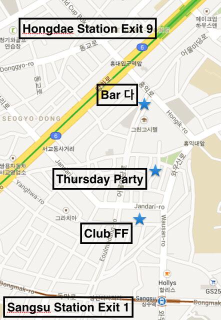 Hongdae Map