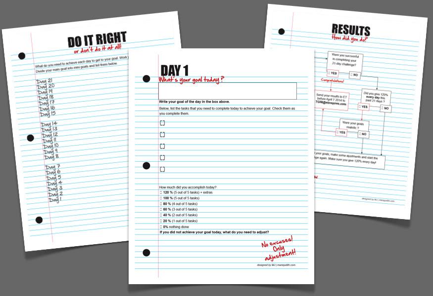 TGIM 21-day Challenge workbook