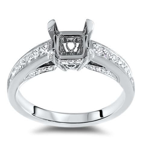 Antique Engagement Ring for 1.5ct Center Stone   AR14 005