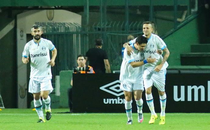 Grêmio gol contra o Atlético-PR (Foto: Joka Madruga/Futura Press)