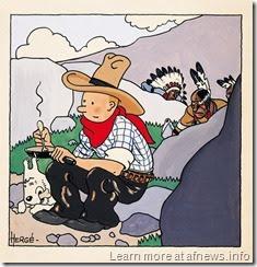 TintinAmericaCoverOriginaleArtcurialb