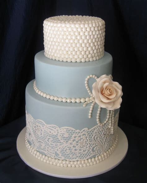 lace cakes   Pearl And Lace Mini Cakes By Vintage Rose