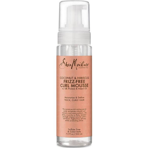 SheaMoisture Frizz-Free Curl Mousse, Coconut & Hibiscus - 7.5 fl oz bottle