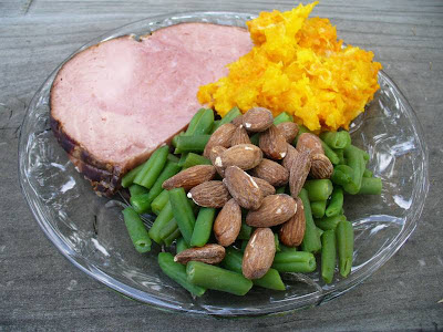Ham and vegetable dinner