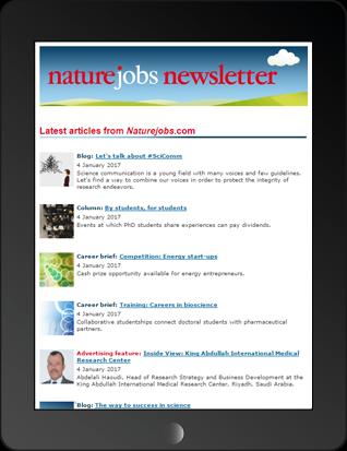 Naturejobs Jobseeker Newsletter