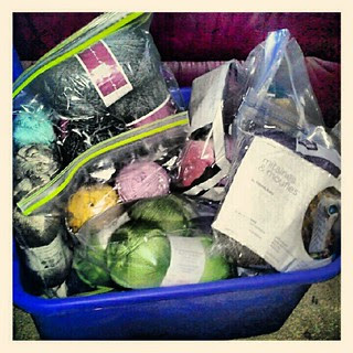 A fraction of projects waiting to be cast on... #knitting #yarn #knit #getyourkniton #crafting #craftsupplies