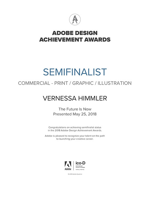 Adobe Awards & Hiii Illustration • Vernessa Himmler Illustration