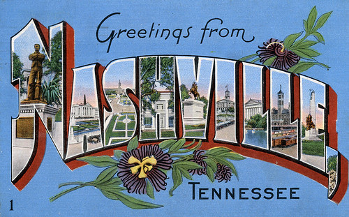 Greetings from Nashville, Tennessee - Large Letter Postcard