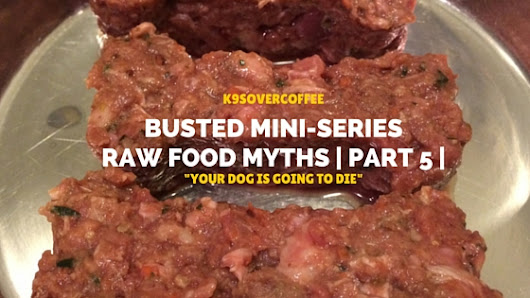 "Busted Mini-Series: Raw Food Myths |Part 5| ""Your Dog Is Going To Die"""
