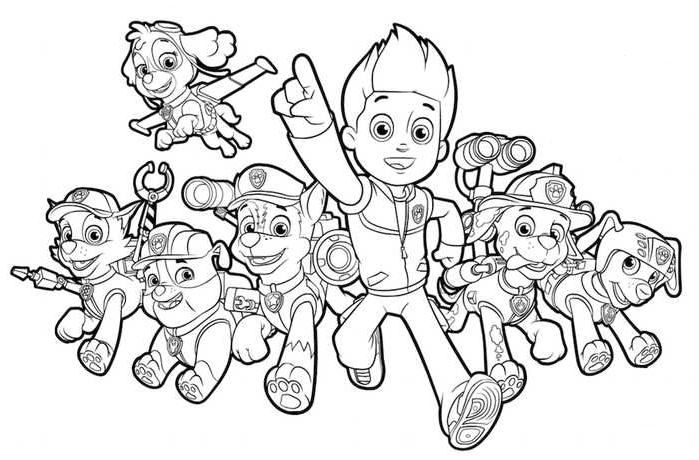 Paw Patrol For Coloring Coloringnori Coloring Pages For Kids