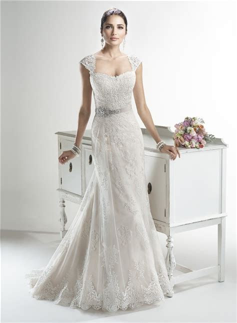 Mermaid Sweetheart Detachable Cap Sleeve Lace Wedding