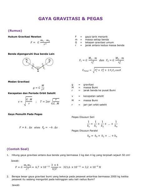 Modul fisika kelas xi // hukum newton tentang gravitasi. Contoh Soal Tentang Hukum Newton Gravitasi - Berbagi
