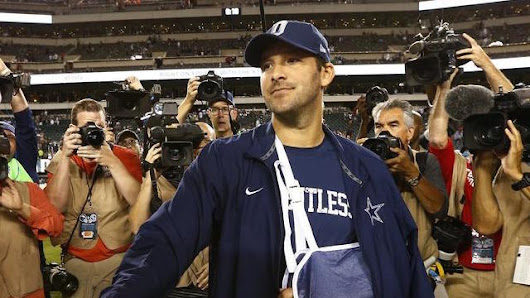 Tony Romo Out 6-10 Weeks With Broken Back. Yikes. - bettingsports.com