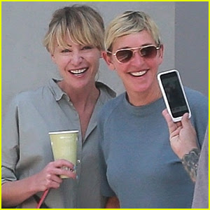 Ellen DeGeneres & Portia de Rossi Stay Close in LA