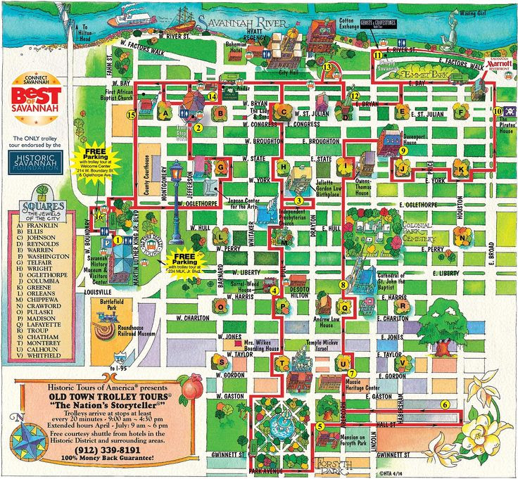 Savannah Old Town Trolley Route Map Wanderlust