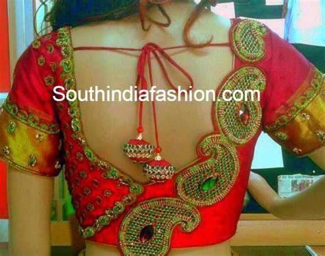 South Indian Bridal Blouse Designs: Blouse back neck patterns