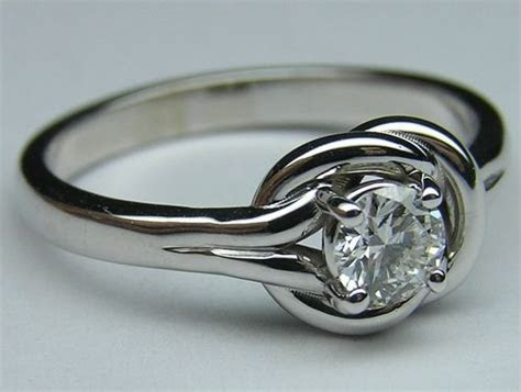 Love Knot Solitaire Diamond Engagement Ring   Rings and