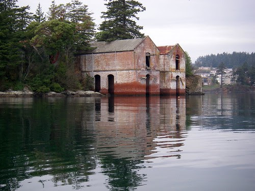 Old Buildings on the Shore
