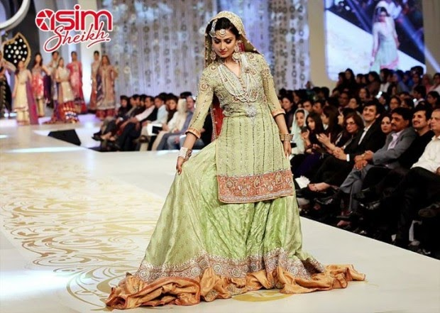 Pakistani Bridal Hairstyles 2014 2015 For Walima Party And: Fashion & Style: Pakistani Bridal,Wedding,Walima Dresses