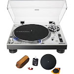 Audio-Technica AT-LP140XP Direct-Drive Professional DJ Turntable with Cleaning Kit