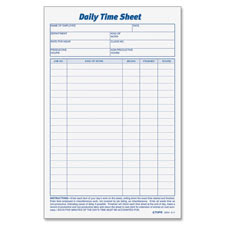 Office Quarters: From $  10.68 - Tops Daily Time Sheet Form TOP ...