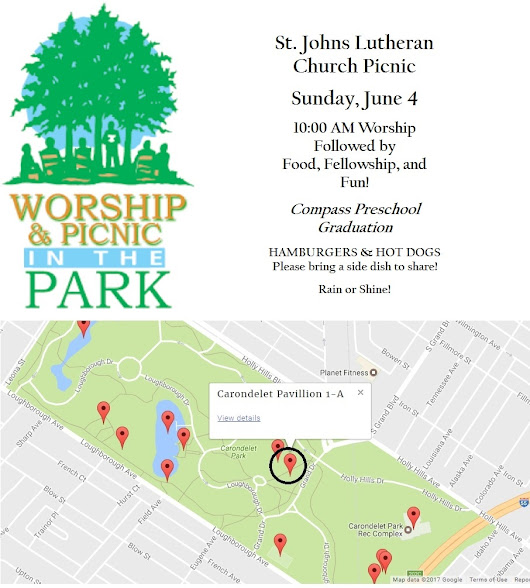 St. Johns Lutheran Church Picnic – Sunday, June 4