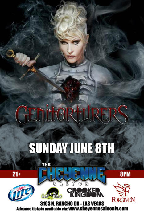 GENITORTURERS with Wretched Sky Las Vegas @ The Cheyenne Saloon - June 8th 2014 8:30 pm