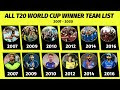 T20 World Cup Champions from 2007 to 2020 | Full List