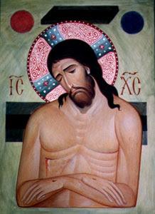 Icône de l'Humilité suprême : Le Christ mort