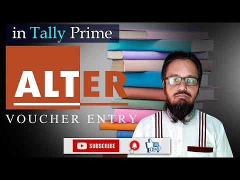 Alter Voucher Entry in Tally Prime | टैली प्राइम में वाउचर  एंट्री में सुधार कैसे करें