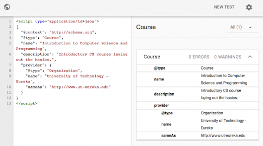 New: Google Schema For Courses