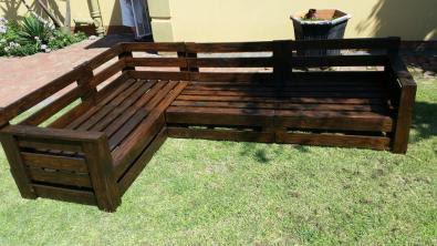 Pallet Wood Garden Or Patio Corner Sets For Sale ...