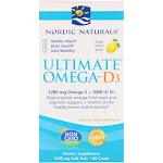Nordic Naturals Ultimate Omega-D3 Lemon Flavored 60 Softgels