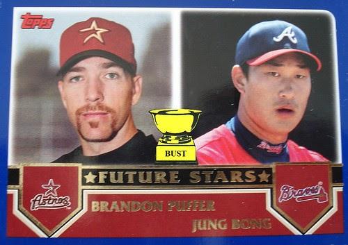 Baseball Card Bust: Brandon Puffer and Jung Bong, 2003