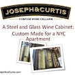 Steel and Glass Custom Wine Cabinets