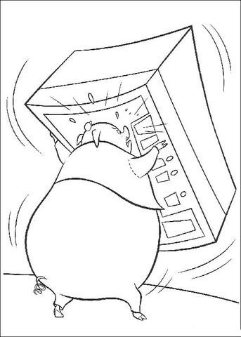 Dibujo De Runt Levanta Una Caja Para Colorear Dibujos Para