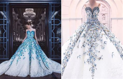 A glamorous touch of blue, these Jack Kay gowns are