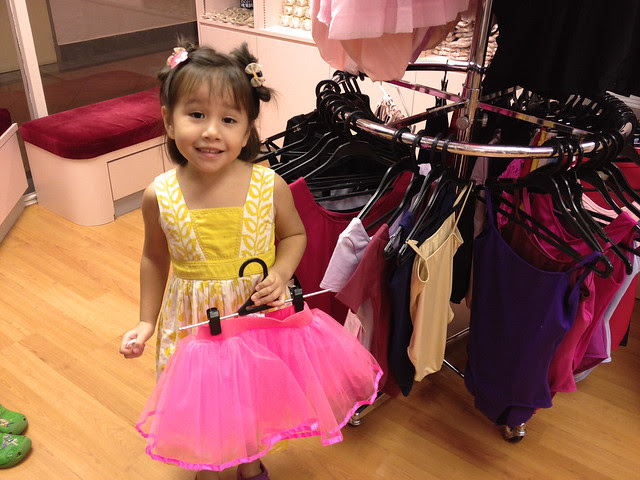 Jolie and a shocking pink tutu at OKH Ballet