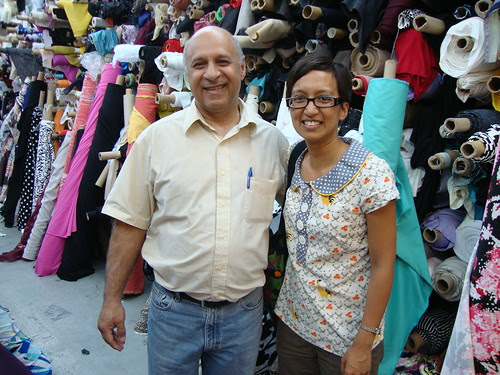 Antoinette with Kashi at Metro Textiles