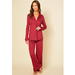 Cosabella Bella Long Sleeve Top & Pant Pajama Set - Womens - Red - 3x Size