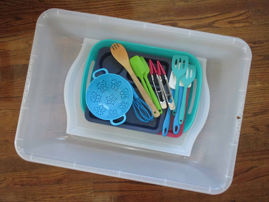 How We Organize Our Tot School Sensory Materials - The Keeper of the Memories