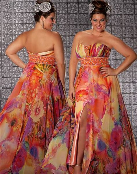 fabulouss orange print  size prom dress  macduggal