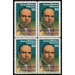 1988 - James Weldon Johnson Black Heritage Block Of 4 22c Postage Stamps - MNH - Sc# 2371 - CW389a