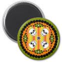 Halloween Paisley Skull Magnet magnet