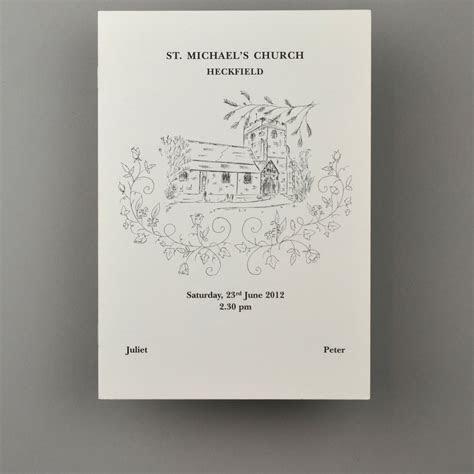 Inspiration Service Sheets   Wedding Stationery
