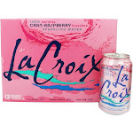 LaCroix 100 Natural Sparkling Water CranRaspberry 12 Can(s)