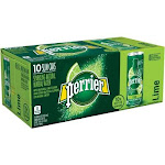 Nestle Waters NLE074780333559 Perrier Slim Can Mineral Water Beverage Green