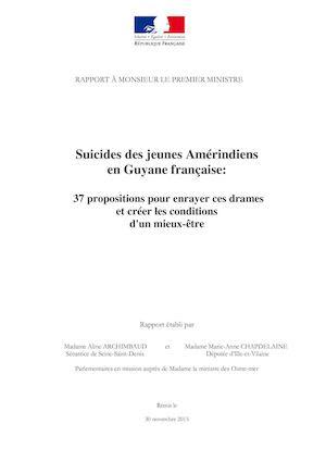 Rapport Parlementaire : Suicide Des Jeunes Amérindiens